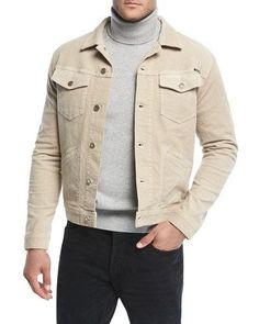 Tom Ford Washed Stretch-cotton Corduroy Jacket In Beige Tom Ford Jacket, Tom Ford Men, Faded Jeans, Corduroy Jacket, Military Jacket, Jacket Men, Cotton Spandex, My Style, Shirts