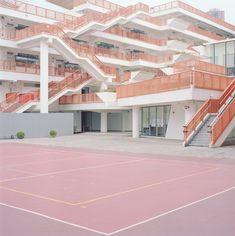 Roberts Ward Pastel Outdoor Sporting Court / Orange