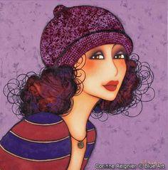 Carte Corinne REIGNIER Mariza 14x14 cm