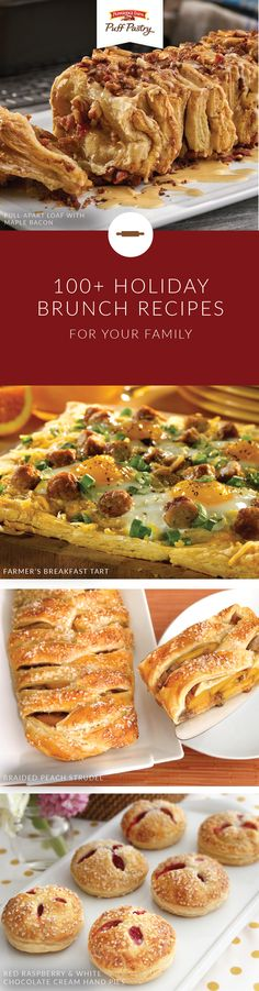 With the help of Pepperidge Farm® Puff Pastry Sheets, you can host an elegant weekend brunch with ease. Explore this collection of holiday brunch recipes for a delicious way to fill your family table with rich fall flavors. Choose from options like Pull Apart Loaf with Maple Bacon, Chocolate Marshmallow Tarts, and Date and Gorgonzola Pinwheels Over Greens to find the perfect breakfast dish.