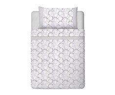 Juego de sábanas Dorin para cama de 135 cm, gris - 3 piezas