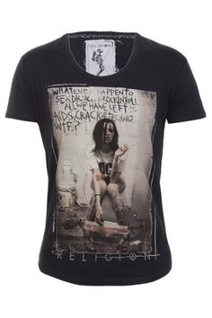 Religion Clothing T Shirt What Ever Happened in Washed Black