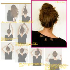 A perfectly messy bun tutorial. I could never get my messy buns to look good. This tutorial helped a lot! (Who knew a messy bun required a tutorial? Is there a wrong way to make a messy bun? Twist up your long hair in such a way that it stays up; voila! messy bun!)