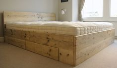 Reclaimed Scaffolding Bed - Tom Robinson Handmade Furniture from Brighton, Susse. - Reclaimed Scaffolding Bed – Tom Robinson Handmade Furniture from Brighton, Sussex - Bedroom Wall, Bedroom Furniture, Diy Furniture, Funky Bedroom, Master Bedroom, Scaffolding Wood, Scaffold Boards, Log Bed, Reclaimed Furniture