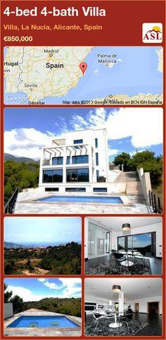 4-bed 4-bath Villa in Villa, La Nucia, Alicante, Spain ►€850,000 #PropertyForSaleInSpain