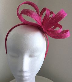 TheHeadwearBoutique on Etsy- Trixie Fuschia/ Magenta Fascinator Pink Kentucky Derby Hat 2018