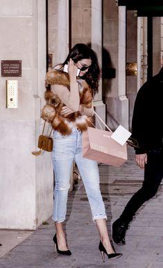 Kendall Jenner leaving the Miu Miu Showroom in Paris, March 7, 2016