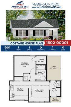 Little House Plans, Guest House Plans, Cabin Plans, Small House Plans, Small Cottage Homes, Cottage House Plans, Country House Plans, Small Homes, Tiny House Cabin