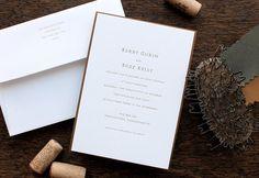 Etsy | Letterpress Wedding Invitation - SAMPLE - Minimalist Modern Simple Understated Type