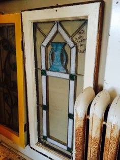 Antique and unusual stained glass windows in all shapes and sizes can be found hanging in the hallway 2nd floor!