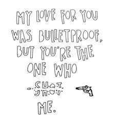 .Bulletproof Love by Pierce the Veil I love this song. So much. Thanks Katelyn and Erica. Muh Homies :P