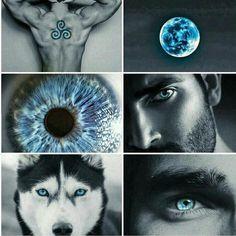 teen wolf, derek hale, and blue afbeelding