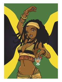 Jamaican Anime Girl Giclee Print by Harry Briggs at Art.com