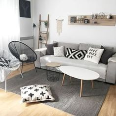 We love all the decor of petitsbonheursduquotidien! This weekend the decoration is in the spotlight on our site! Ref: STONE coffee table and . Decor, Home Living Room, Minimalist Living Room, Home Decor, Apartment Decor, Home Deco, Interior Design Living Room, Home And Living, Living Room Designs