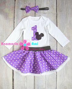Costumas Aniversar Minnie Mouse mov 1an by Anamaria Ami