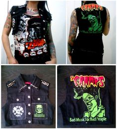 I'm super excited to be selling my first piece on etsy! Check out this wicked Psychobilly Vest in shop now at…