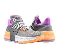 reputable site 4350c e964f Adidas D Lillard 3 Dame 3 ASG GreyPurpleOrange Mens Basketball Shoes  BY8270