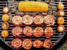 Roulade grillspyd til grillen fra Herta Grilled Shrimp Seasoning, Easy Grilled Shrimp Recipes, Pork Chop Recipes, Grilled Meat, Salmon Recipes, Fish Recipes, Meatloaf Recipes, Barbecue Recipes, Grilling Recipes