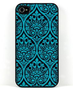 Victorian teal iPhone case... Very  much Boho.