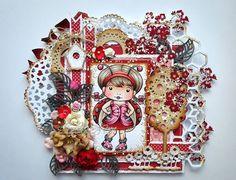 La-La Land Crafts - Rubber Cling Stamp - Ladybug Marci