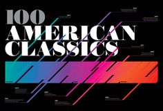 Illustration, design and typography for feature article about 100 American Classics for OUT magazine. by carlde torres