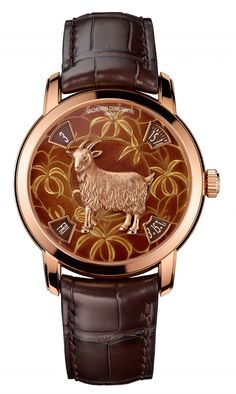 On the occasion of the SIHH 2015 exhibition, Vacheron Constantin will unveil its new model from the Métiers d'Art collection - The Legend of the Chinese Zodiac, dedicated to the Year of the Goat. 86073/000R-9889 - Pink gold