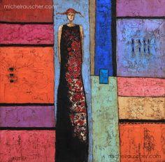Michel RAUSCHER   Peintures - Huile sur toile - 40 x 40 cm - 2012