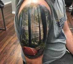 Tattoo by Kyle Cotterman - Look at that light, wow!