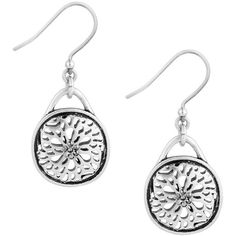 Lucky Brand Pave Holiday Luxe Silvertone Sugar Plum Drop Earrings (€24) ❤ liked on Polyvore featuring jewelry, earrings, silver, holiday jewelry, cocktail jewelry, holiday earrings, special occasion earrings and silvertone earrings
