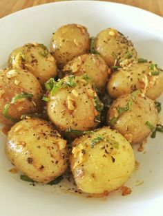 New Potatoes in Garlic and Chilli Butter