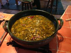 "Flor de Calabaza soup at ""Seasons of the Heart"" in Oaxaca, Mexico"