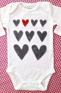 12 Valentine's Day Onesies for Your Little Heartbreaker via Brit + Co.