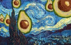The Starry Night with Avocado, Vincent van Gogh, 1889