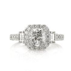 3.06ct Cushion Cut Diamond Engagement Anniversary by MarkBroumand