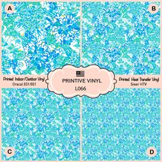 Lilly P Inspired Gypsea Pattern Printed Vinyl HTV L048