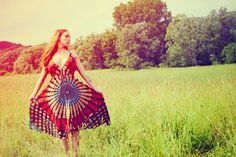 Heads To My HannahNavy Blue Hippie Dress Long ECO by Cloud9Jewels, $38.00