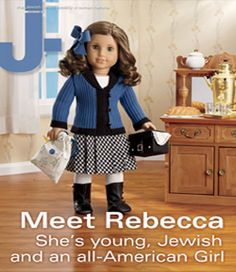 Rebecca is 9 years old and an aspiring movie star. She helps her father in his store and her mother in the kitchen. She's a whiz at crochet, and dreams of a day when she's old enough for her sisters to take her seriously.  And, in a first for American Girl, Rebecca is Jewish — the American-born daughter of Russian immigrants, living on the Lower East Side in an apartment with her parents, grandparents and four siblings.