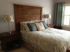 BARN WOOD HEADBOARDS contemporary bedroom