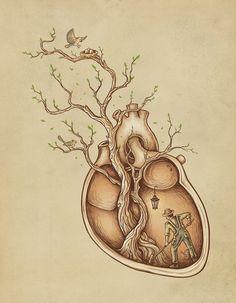 """""""Tree of Life Art"""" - Enkel Dika {anatomical art illustration} Art And Illustration, Illustrations Posters, Illustration Fashion, Creative Illustration, Street Art, Tree Of Life Art, Art Life, Wow Art, Pics Art"""