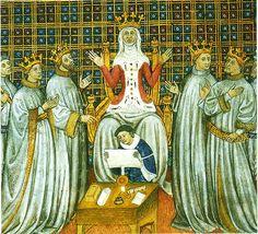 Clotilde partageant le royaume entre ses fils