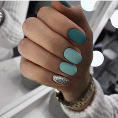 50 Stunning Matte Blue Nails Acrylic Design For Short Nail - nails design - halloween nails Cute Nail Designs, Acrylic Nail Designs, Matt Nails, Nagellack Trends, Nail Polish, Gelish Nails, Shellac, Nail Swag, Green Nails