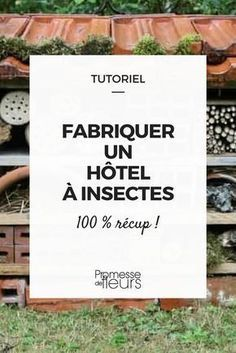 How to make an insect hotel - Tutorial Green Garden, Garden Art, Commercial Aquaponics, Bug Hotel, Aquaponics System, Aquaponics Garden, Home Schooling, Science And Nature, Garden Furniture