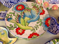 Damariscotta pottery painted by Amy