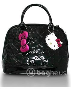 Hello Kitty Small Patent Embossed Bag!   $72 http://www.baghaus.com/product/2838/loungefly_hello_kitty_totes