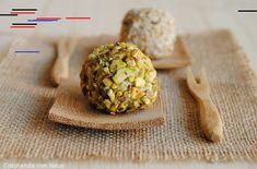 Cocinando con Neus: Bolitas de crema de queso rebozadas con pistachos y corazón de uva Cream Cheeses, Pistachio