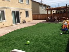 Artificial Grass Backyard Artificial Lawn Combes, Texas How To Build A Putting Green, Backyard