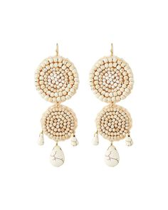 Panacea Beaded Rope Double-Drop Earrings 8FBqGXAEA