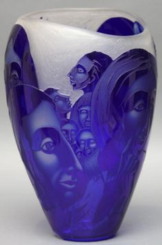 """Lisabeth Sterling (American b. 1958- ) """"Some Questions Have No Answers""""    Engraved blown glass  