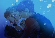 Tags: Anime, Bubble, Underwater, Umineko no Naku Koro ni, Ushiromiya Battler, Beatrice, Drown #Ronce #Friedrich  #ContesDefaits