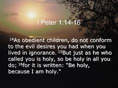Holiness, without which no man shall see the Lord-Hebrews 12:14